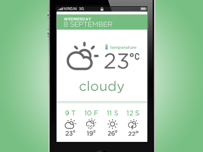 Weather app by Yura Yarokhovich.